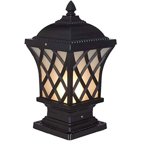 KDMB Lámpara de Columna de iluminación Exterior Faro de Columna - Luces de Tapa de Poste Solar, Faro de Columna de Exterior Lámpara de Columna Solar