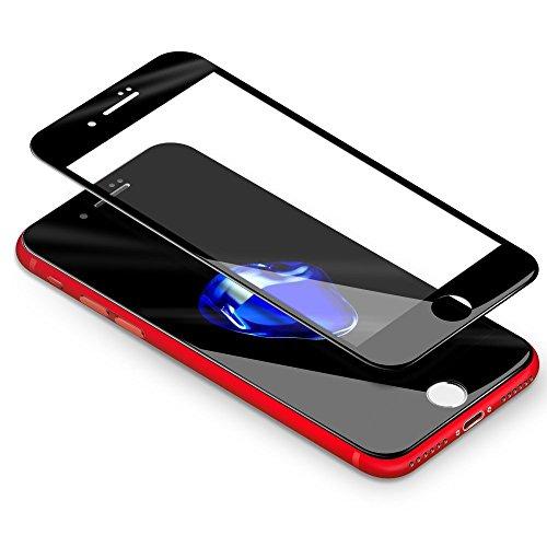 CoolReall Schutzfolie Kompatibel mit iPhone 7 Plus 8 Plus, 3D Full Screen Curved Panzerglas Kompatibel mit iPhone 7 Plus/iPhone 8 Plus5,5,[9H Härtegrad,3D-Touch kompatibel](Schwarz)
