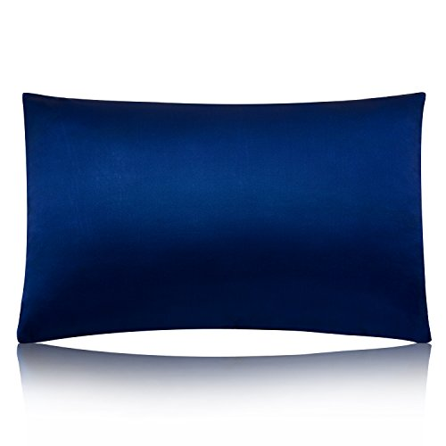 MEILIS 100% Pure Silk Satin Pillowcase for Baby Travel Sized Pillows,Hypoallergenic Pillow Shams Cover ,Royal Blue Kids Pillow Slip