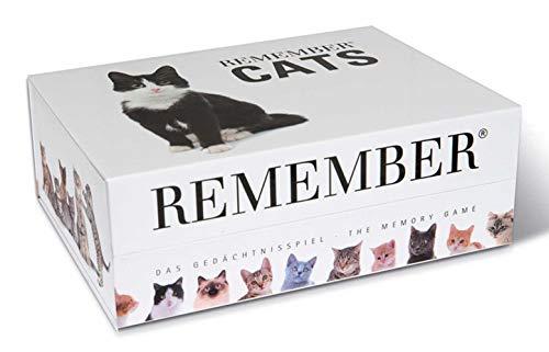 Remember Memory Gedächtnisspiel Katzen – 44 Bildpaare für Katzenfreunde (88 Karten)