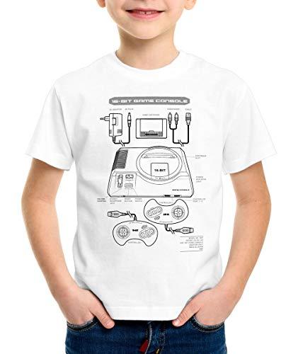 style3 Mega 16-bit Camiseta para Niños T-Shirt Gamer Classic Retro Videoconsola Sonic...