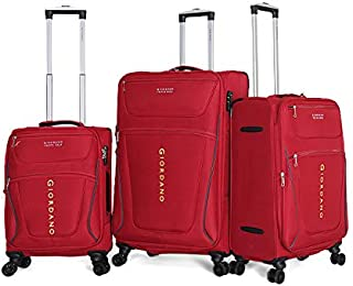 Giordano Luggage Trolley Bags For Unisex 3 Pcs, Red, 744072