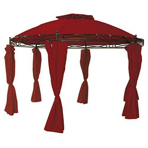 Linder Ersatzdach für Pavillon rund Ø3,5m beige, rot, grau oder Taupe wasserdicht Dach, Farbe:Burgundrot