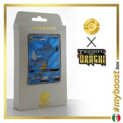 Kingdra-GX 66/70 Full Art - #myboost X Sole E Luna 7.5 Trionfo dei Draghi - Box di 10 Carte Pokémon Italiane