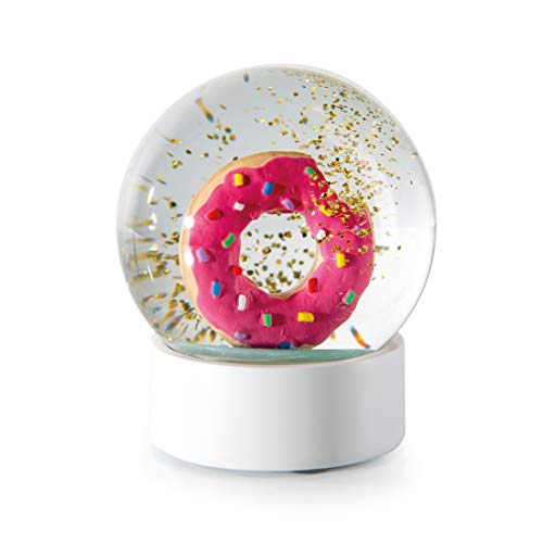 DONKEY Products Summerglobe Donut, Glitzerkugel, Sommerkugel, Schneekugel, Schüttelkugel, Traumkugel, Ø 10 cm, 330444