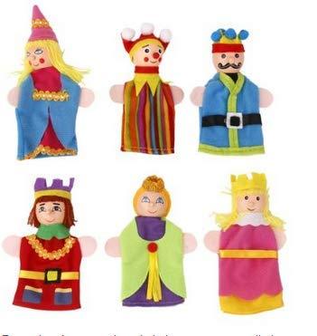 Ice.mask Marioneta de Dedo Cuento de Hadas Marioneta Rey Reina Princesa Príncipe Caballero