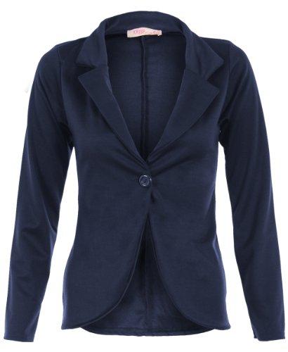 KRISP Smart Casual Stoff Fashion Blazer (Marineblau, Gr.38) (3558-NVY-10)