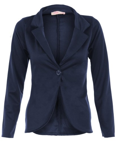 KRISP Smart Casual Stoff Fashion Blazer (Marineblau, Gr.38) (3558-NVY-10)