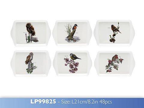 McNeil Petit Plateau à collation en mélamine Motif Oiseaux Britanniques 21 cm