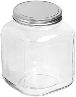 Anchor Hocking 1-Gallon Cracker Jar with Brushed Aluminum Lid, Set of 4
