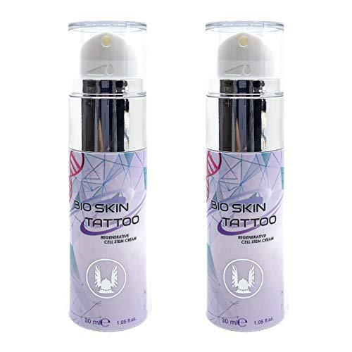 VIKING INK - Crema rigenerante per tatuaggi - Bio Skin 1oz x 2ud - Creato con cellule staminali