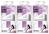 Areon Clima Fresh Ambientador Casa Bienestar Púrpura Aire Acondicionado Original Perfume Hogar Salón Habitación Oficina Tienda Duradero Moderno Olor ( Wellness Pack de 3 )
