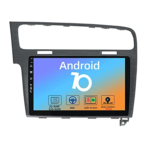 JOYX Android 10 Autoradio Compatibile VW Golf 7 (2013-2018) - [2G+32G] - Gratuiti Telecamera Canbus - 10.1 Pollici Con IPS 2.5D - 2 DIN - Supporto DAB 4G WLAN Bluetooth Carplay Android Auto Volante