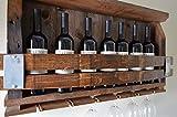 Barn Wood Wine Rack - with Wine barrel staves