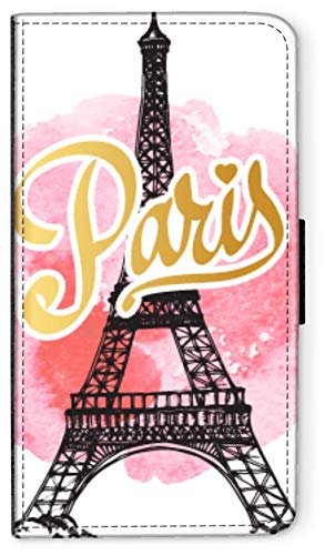 blitzversand Flip Case Watercolour Paris Aquarell kompatibel für Samsung Galaxy S10 Mouling Rouge...