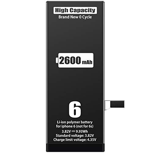 ZMNT - Batteria di ricambio per iPhone 6, 2350 mAh, ZMNT, con kit di attrezzi di ricambio e istruzioni