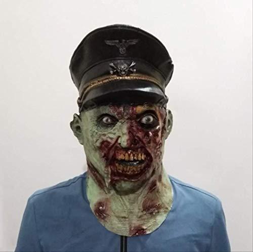 tytlmaske Mscara de Zombi de Capitn Insecreto, mscara de Soldado terrorfico de ltex, para Halloween, Disfraz de Hombre, se Adapta a la mayora de Cabezas de Adultos