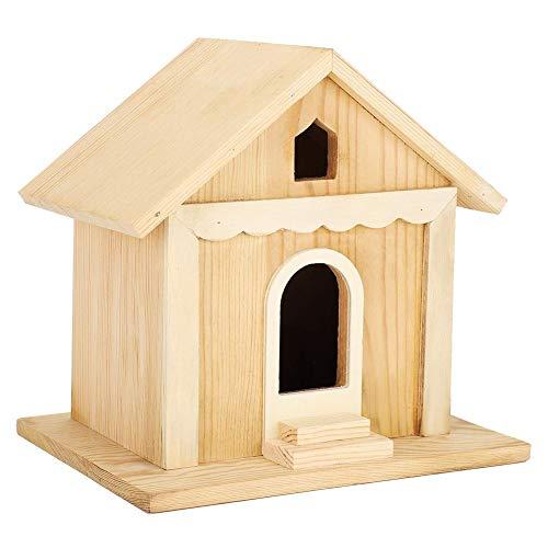 Vogelhaus im Freien, ungiftiges Vogelhaus-Kit, handgefertigtes Holz-DIY, langlebig zum Aufhängen im Freien, damit Kinder es Bauen können