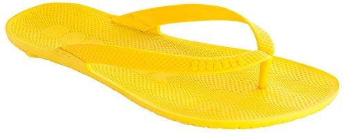 Boombuz Taiga Basic Naked Herren Zehentrenner, Zehenspreitzer, Flip Flips (41, Gelb/Yellow)
