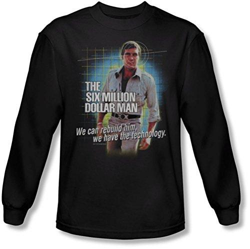 Six Million Dollar Man - Technologie shirt manches longues de Men In Black, XX-Large, Black