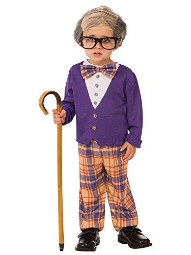 Rubies - Disfraz de pequeño hombre viejo para niño, talla 3-4 años (Rubies 510575-S)