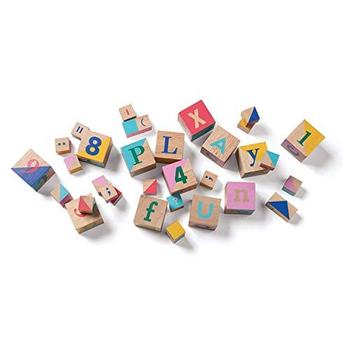 Manhattan Toy Ensemble de Blocs en Bois avec 33 pièces de Reconnaissance de Forme et de Couleur, 216560, Multicolore