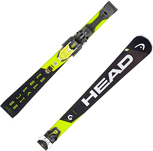 HEAD Herren Skier Supershape i.Speed inkl. Bindung PRD 12 GW schwarz/gelb (703) 170
