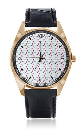 Choeter - Reloj de pulsera de acero inoxidable con correa de piel...