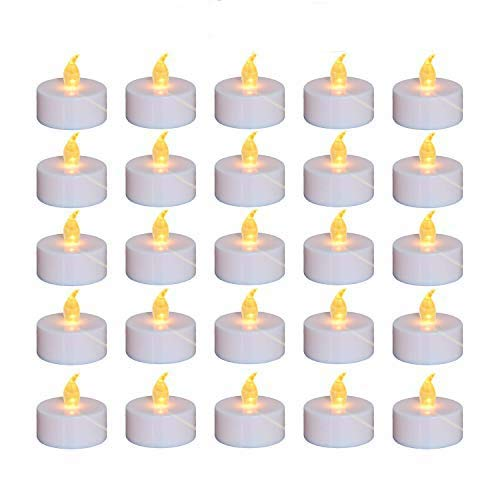 Nancia Tea Lights, 100PACK Flameless LED Tea Lights Candles, Flickering Warm Yellow, 100 Hours Battery-Powered Tea Light, Ideal Party, Wedding, Birthday, Gifts Home Decoration (100 Pack)
