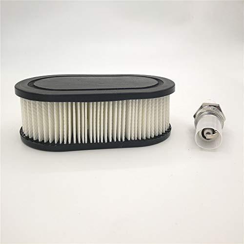 Tool Parts Oval Air Filter with Spark Plug for Troy-Bilt TB110 TB115 TB200 TB230 TB330 TB370 Walk-Behind Lawn Mower : Garden & Outdoor