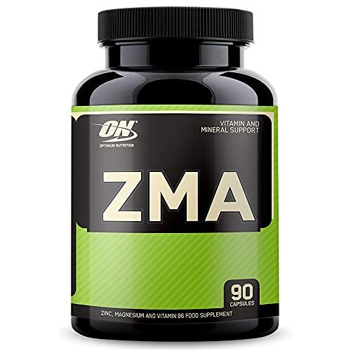 Optimum Nutrition ZMA Tabletten (mit 3,5mg Vitamin B6, 150mg Magnesium und 10mg Zink pro Portion von ON) Unflavoured, 90 Portionen, 90 Kapseln
