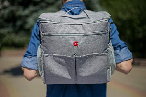 Multi Luiertas (Grijs) - als rugzak, schoudertas en als handtas te gebruiken | GoldBaby verzorgingstas