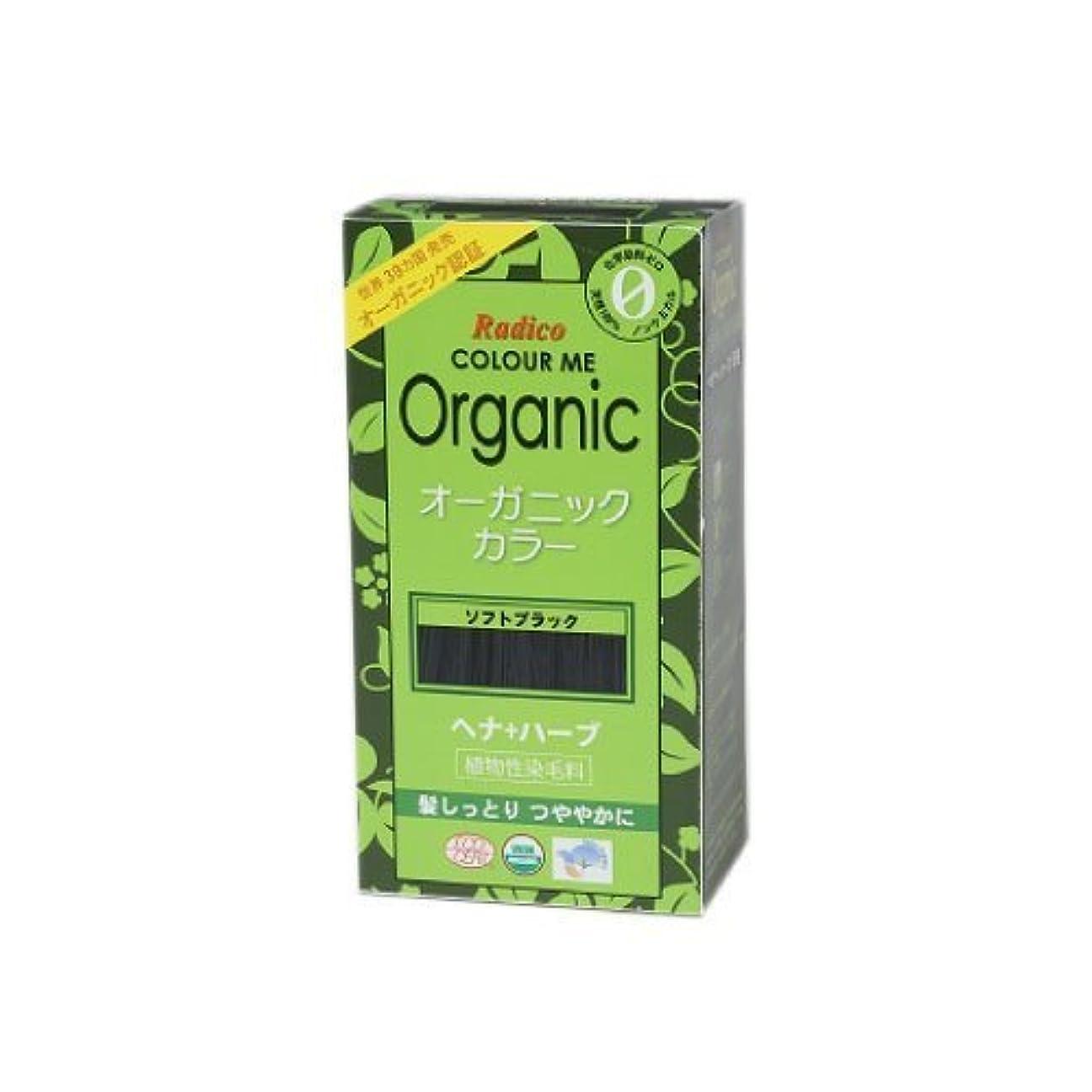 コンベンション不利益独占COLOURME Organic (カラーミーオーガニック ヘナ 白髪用 髪色戻し) ソフトブラック 100g