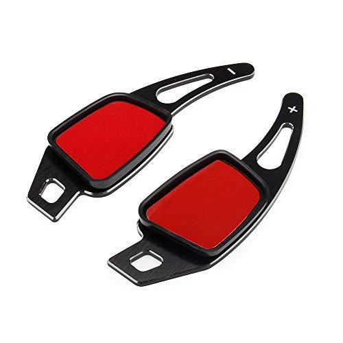 Black Steering Wheel Shift Paddles, 2 pcs Steering Wheel Shift Blade Paddle Shifter Extension for Audi A3 S3 A4 S4 A5 S5 Q2 Q5 Q7