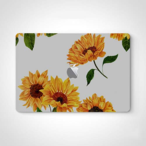Decal Stickers for Men Bright Yellow Sunflower Mac Laptop Decal Stickers for MacBook Air 13' Pro 13'/15'/16' 2008-2020 Version Laptop Keyboard Decal Sticker