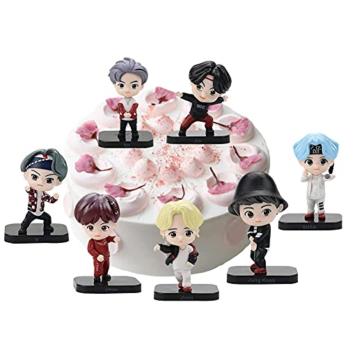 7PCS BTS Doll Cake Topper Pastel Decoración Suministros Bangtan Boys Figures Muñeca Hecha a Mano...