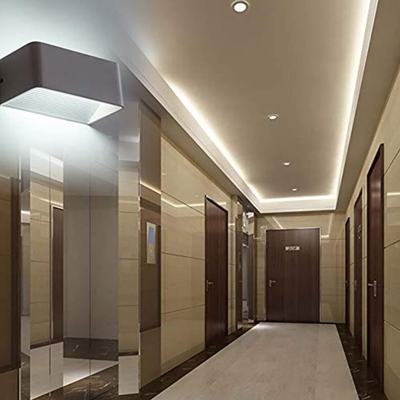 Modern Trendige Wandlampen einfach LED Aluminium Quadratische COB Wandleuchte Up and Down Beleuchtung High-Power 6W Dekorative Flurlampe Schlafzimmer Wohnzimmer