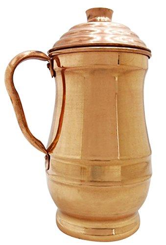 Indianbeautifulart Traditionellen Kupferkanne Krug 1.5-Liter-Wasserspeicher Ayurvedischen Nutzen Für Die Gesundheit