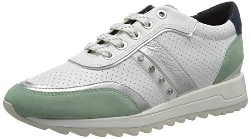 Geox D TABELYA A, Zapatillas Mujer, Color Blanco Menta, 37 EU