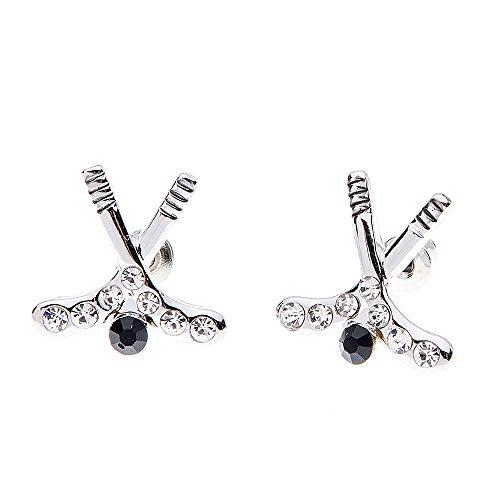 Hockey-Ohrringe, Hockey-Schmuck, Eishockey-Ohrringe, Hockey-Geschenke, Hockey-Charm-Ohrringe, perfektes Geschenk für Mädchen Hockeyspieler