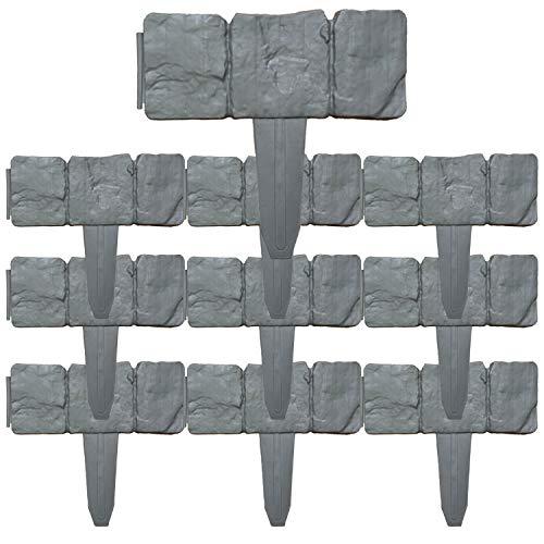 AYITOO 10 unidades de bordes de césped de plástico con estaca para césped, bordes de césped de plástico