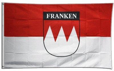 Flaggenfritze Fahne/Flagge Deutschland Franken mit Schrift + gratis Sticker