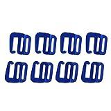 IGOSAIT Stark Sets 4 1 Zoll G-Haken Außen Webbing Schnalle G Webbing Wölbung for Rucksack-Bügel 25mm Kletterzubehör Dauerhaft (Color : Blue)