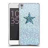 Head Case Designs Oficial Monika Strigel Azul lluvioso Glitter Star Pastel Carcasa de Gel de Silicona Compatible con Sony Xperia E5