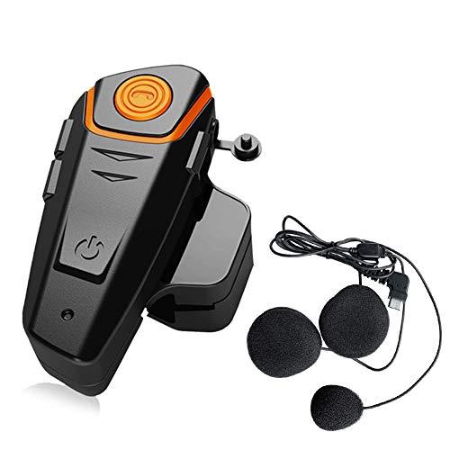 QSPORTPEAK BT-S2 - Auriculares Bluetooth para motocicleta con FM, sistema de comunicación de motocicleta con cancelación de ruido para 2-3 ciclistas de 2,5 mm de audio