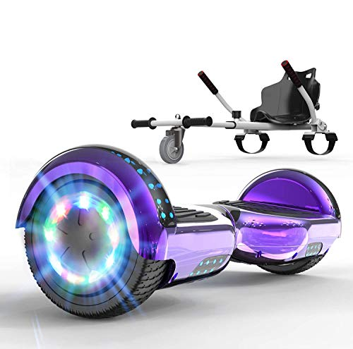 SOUTHERN WOLF Hoverboard con Silla, Patinete eléctrico con Luces LED, Patinete autoequilibrado...