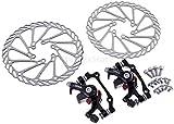 G3 Rotors - Freno de disco mecánico para bicicleta de montaña (F-160 mm/R-140 mm y F-180 mm/R-160 mm) + disco