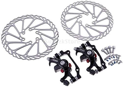 G3 Rotors - Freno de disco mecánico para bicicleta de montaña (F-160 mm/R-140 mm y F-180 mm/R-160 mm)