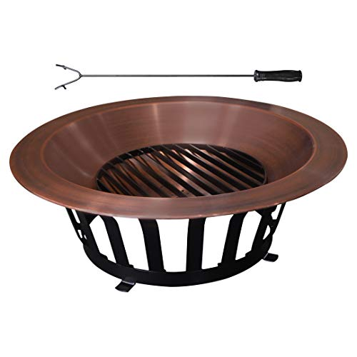 "TITAN GREAT OUTDOORS Copper Outdoor Fire Pit 40""..."