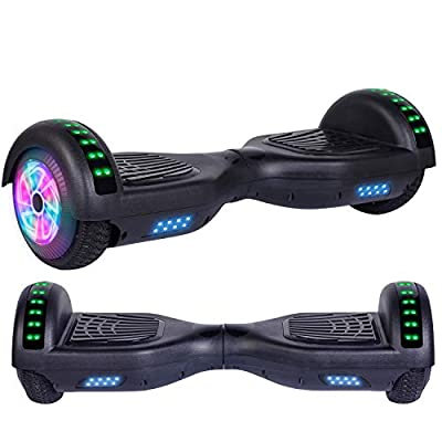 Felimoda Hoverboard, w/Bluetooth Speaker for Kid and Adult- UL2272 Certified (Black)